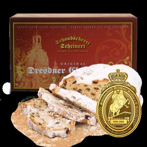 Echter Dresdner Christstollen ® 2kg (Geschenkkarton)